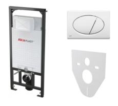 Скрытая система инсталляции для подвесного унитаза AlcaPlast SET 4 v 1 A101+M070 (клавиша белая) A101/1200+M070+M91
