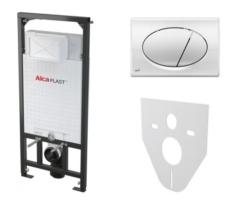 Скрытая система инсталляции для подвесного унитаза AlcaPlast SET 4 v 1 A101+M071 (клавиша хром глянцевый) A101/1200+M071+M91