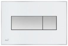 Кнопка управления AlcaPlast M1370 (белая матовая)