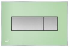Кнопка управления AlcaPlast M1372 (зеленая матовая)