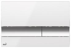 Кнопка управления AlcaPlast M1720-1 (белая/хром глянцевый)