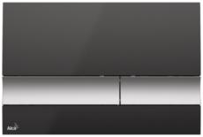 Кнопка управления AlcaPlast M1728-2 (черная/хром матовый)