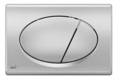 Кнопка управления AlcaPlast M72 (хром матовый)