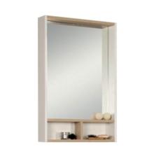 Зеркальный шкаф Акватон ЙОРК 55 (550х850) белый глянец/ дуб сонома 1A173202YOAD0