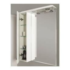 Шкаф-зеркало Акватон ЛИАНА 65 левый (650х850х145)белый 1A166202LL01L