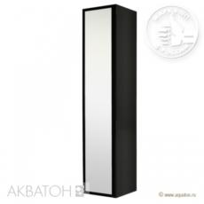 Шкаф-колонна подвесная Акватон Римини (350х1680 мм) черная 1A134603RN950