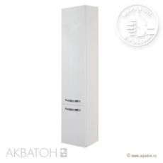 Шкаф-колонна подвесная Акватон Ария М (340х1710 мм) белая 1A124403AA010
