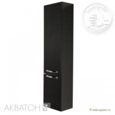 Шкаф-колонна подвесная Акватон Ария М (340х1710 мм) черная 1A124403AA950