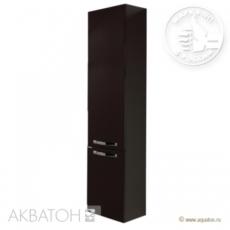 Шкаф-колонна подвесная Акватон Ария М (340х1710 мм) темно-коричневая 1A124403AA430