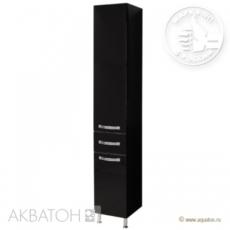 Шкаф-колонна на ножках Акватон Ария Н (340х2000 мм) черная 1A124303AA950