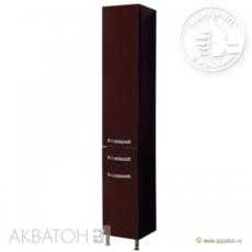 Шкаф-колонна на ножках Акватон Ария Н (340х2000 мм) темно-коричневая 1A124303AA430
