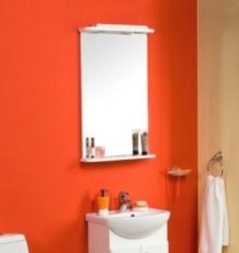 Зеркало Акватон Мира-47 (496х817 мм) белое 1A019802MR010