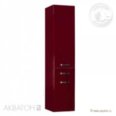 Шкаф-колонна подвесная Акватон Америна (340×1520 мм) бордо темный 1A135203AM940