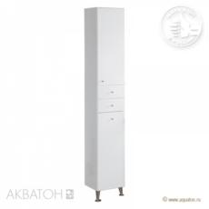 Шкаф-колонна Акватон Эмили М с бельевой корзиной (325х2020мм) белая 1A137203EM010