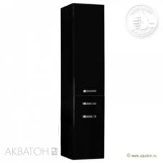 Шкаф-колонна подвесная Акватон Америна (340×1520 мм) черный 1A135203AM950