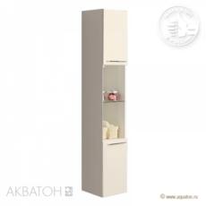 Шкаф-колонна подвесная Акватон Севилья (340х1670 мм) белый жемчуг 1A126603SEG30