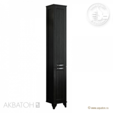 Шкаф-колонна Акватон Леон Н (312х1602мм) ясень черный 1A187903LBPT0