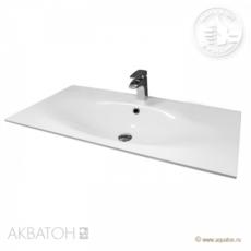 Раковина для мебели Акватон Тина 100 (1000х450 мм) белая 1A710431TI010