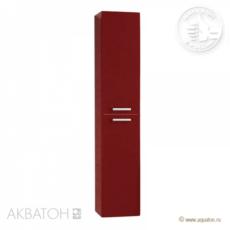 Шкаф-колонна Акватон Мадрид М (300х1580 мм) бордо темный 1A129603MA940