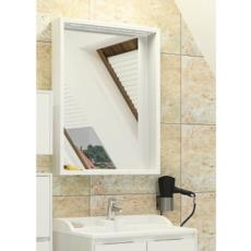Зеркальный шкаф Акватон ФАБИА 65(650х849мм) белый / выбеленное дерево 1A159702FBAY0