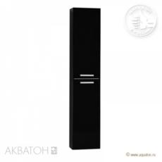 Шкаф-колонна Акватон Мадрид М (300х1580 мм) черная 1A129603MA950