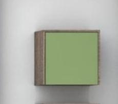 Шкаф подвесной Акватон ФАБИА (338х325мм) фисташка/дуб инканто 1A167603FBAC0