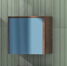 Шкаф подвесной Акватон ФАБИА (338х325мм) голубой/ясень 1A167603FBAB0