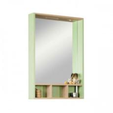 Зеркальный шкаф Акватон ЙОРК 60 (600х850) салатовый/дуб сонома 1A170102YOAJ0