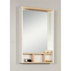 Зеркальный шкаф Акватон ЙОРК 60 (600х850) белый глянец/выбеленное дерево 1A170102YOAY0