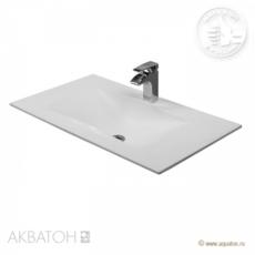 Раковина для мебели Акватон Блент 800 Д (800х450 мм) белая 1A709231BL010