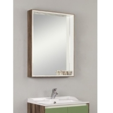 Зеркальный шкаф Акватон ФАБИА 80(800х849мм) белый/дуб инканто 1A166902FBAF0