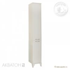 Шкаф-колонна Акватон Леон Н (312х1602мм) дуб белый 1A187903LBPS0