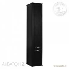 Шкаф-колонна Акватон Леон (312х1602мм) ясень черный 1A186503LBPT0