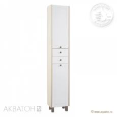 Шкаф-колонна Акватон Альпина с бельевой корзиной  (358х2000мм) дуб молочный 1A133603AL530