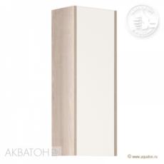 Шкаф одностворчатый Акватон ЙОРК (300х800мм) белый глянец/ясень фабрик 1A171403YOAV0