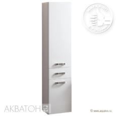 Шкаф-колонна подвесная Акватон Америна (340×1520 мм) белая 1A135203AM010