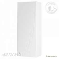 Шкаф одностворчатый  Акватон Минима правый (305х818мм) белый 1A001803MN01R
