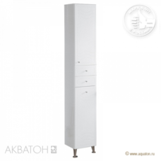 Шкаф-колонна Акватон Домус правая (325х2020мм) белая 1A122003DO01R