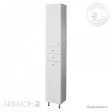 Шкаф-колонна Акватон Минима-М с бельевой корзиной левая (323х2020мм) белый 1A132303MN01L