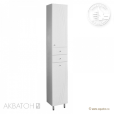 Шкаф-колонна Акватон Минима-М с бельевой корзиной правая (323х2020мм) белый 1A132303MN01R