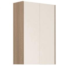 Шкаф двустворчатый Акватон ЙОРК (566х800) белый глянец/ дуб сонома 1A171303YOAD0