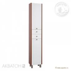 Шкаф-колонна Акватон Альпина с бельевой корзиной  (358х2000мм) венге 1A133603AL500