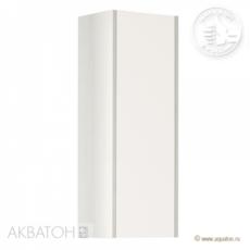 Шкаф одностворчатый Акватон ЙОРК (300х800) белый глянец/выбеленное дерево 1A171403YOAY0