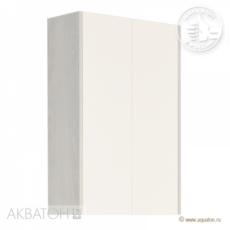 Шкаф двустворчатый Акватон ЙОРК (566х800) белый глянец/выбеленное дерево 1A171303YOAY0