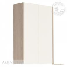 Шкаф двустворчатый Акватон ЙОРК (566х800мм) белый глянец/ясень фабрик 1A171303YOAV0