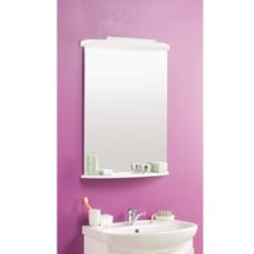 Зеркало с полкой Акватон Минима (650х860мм) белый 1A000502MN010