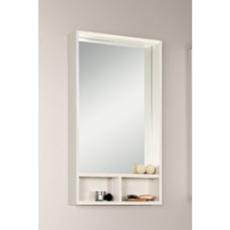 Зеркальный шкаф Акватон ЙОРК 50 (500х850) белый глянец/выбеленное дерево 1A170002YOAY0