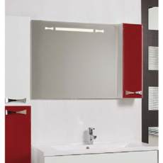 Зеркало Акватон Диор 100 правое (1000х686мм) бело-бордовое 1A167902DR94R