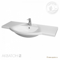 Раковина для мебели Акватон Лацио 110 (1100х543мм) белая 1A701931LC010