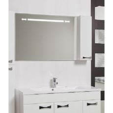 Зеркало Акватон Диор 120 правое (1200х686мм) белое 1A110702DR01R
